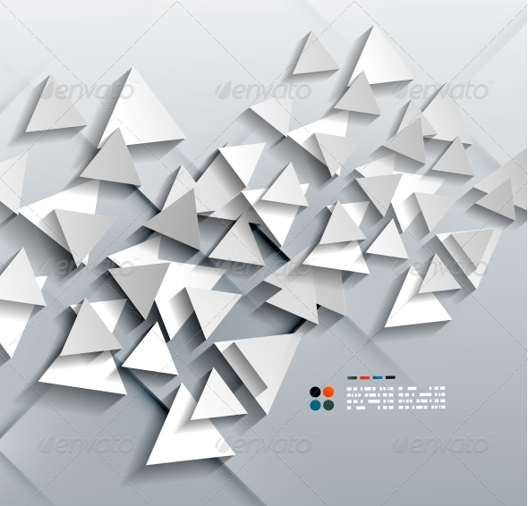 GraphicRiver Vector 3D Paper Triangles 5257448