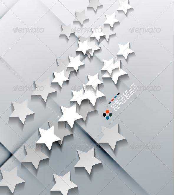 GraphicRiver Vector Modern 3D Paper Stars 5257449