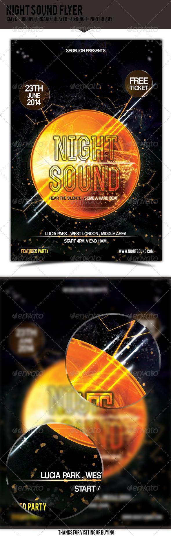 GraphicRiver Night Sound Flyer 5150909