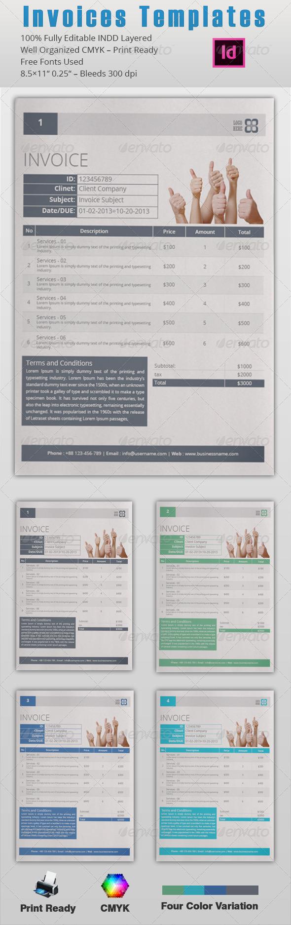 GraphicRiver Invoices Template 5257697
