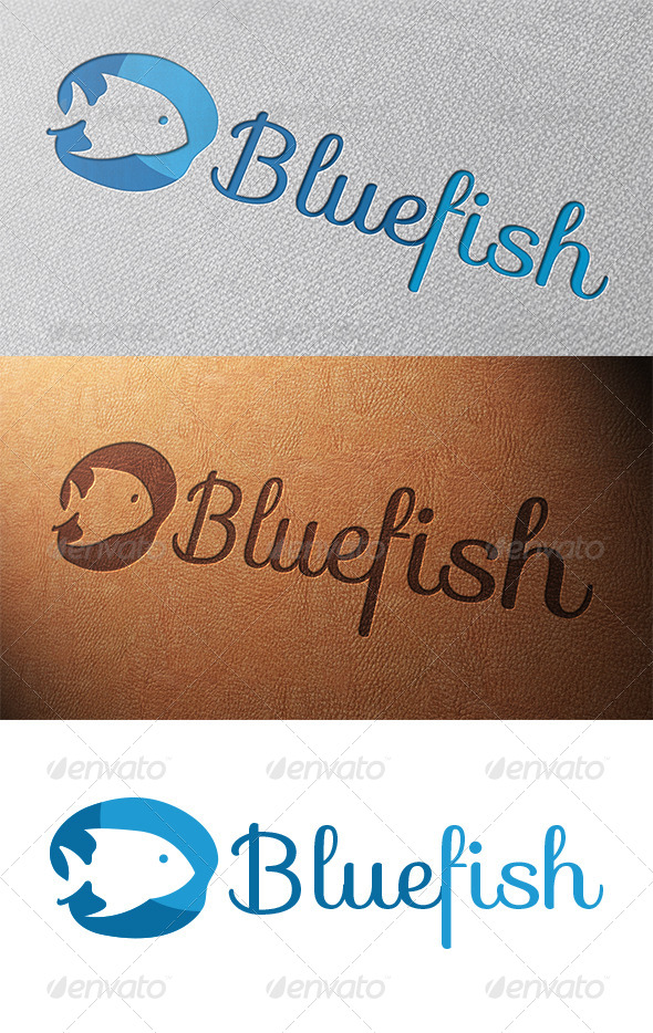 GraphicRiver Blue Fish Logo Template 5257741