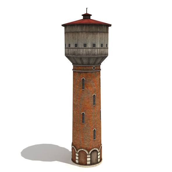 Model Water Tower Water Tower 3docean Item For