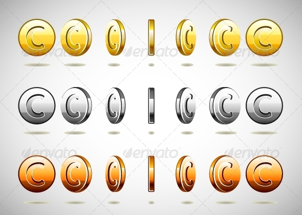 GraphicRiver Different Rotation Coins 5258037