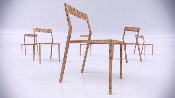 Scandinavian Design Chair - 3DOcean Item for Sale