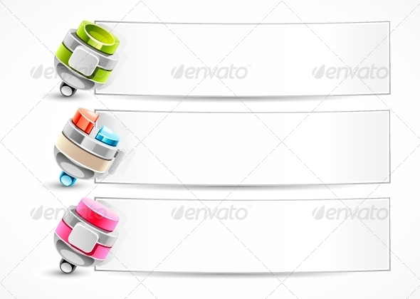 GraphicRiver Pens with Banners 5258209