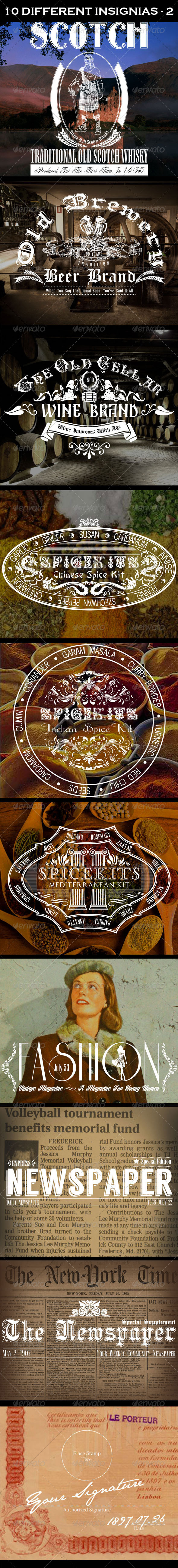 GraphicRiver 10 Different Insignias 5258390