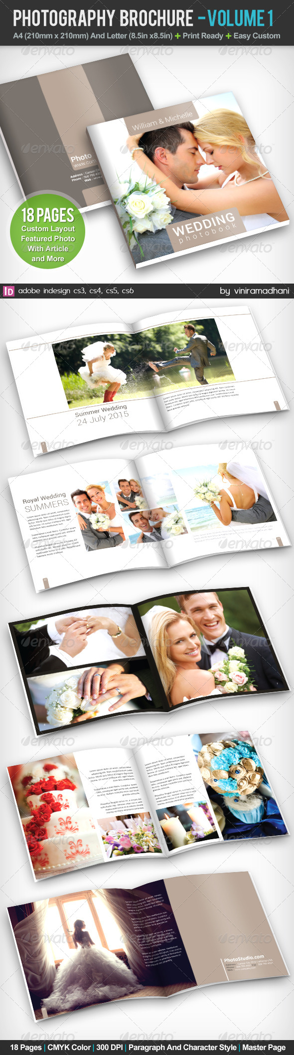 GraphicRiver Photography PhotoBook Brochure