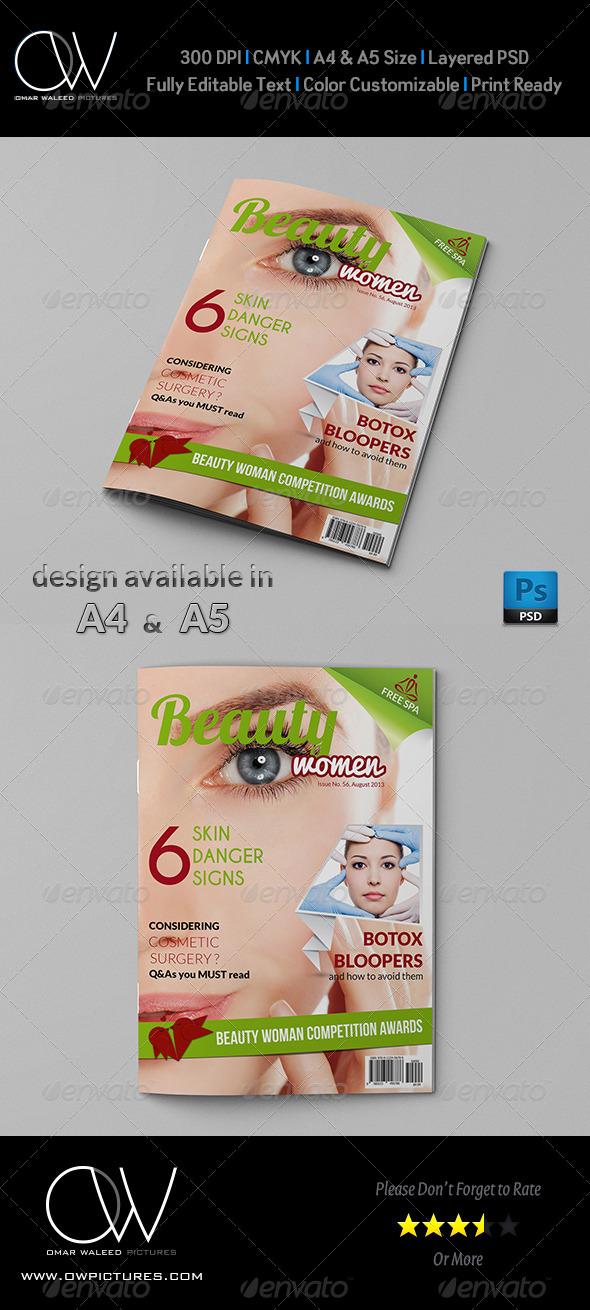 GraphicRiver Beauty Women Magazine Cover 5179514