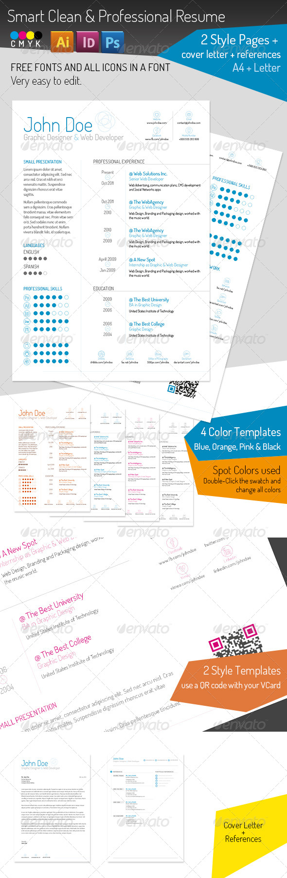 GraphicRiver Smart Clean & Professional Resume 5259017