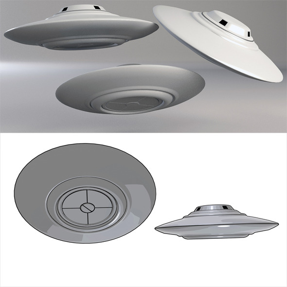 3DOcean Ufo Classic Flying Saucer 01 5259018