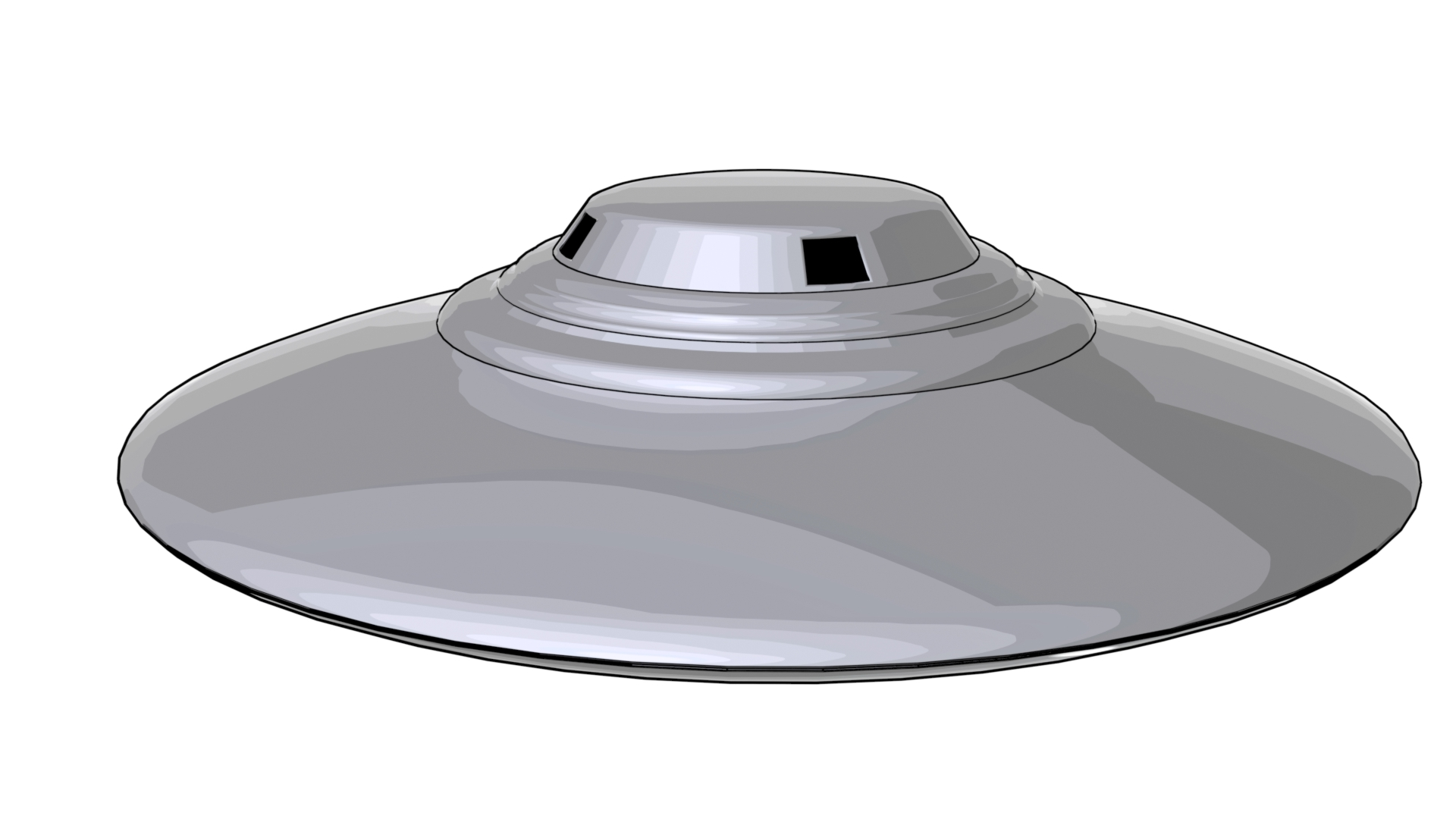 Ufo Classic Flying Saucer 01 By Sickleadzdk 3docean