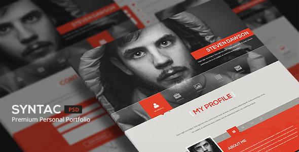 ThemeForest Syntac Premium Personal Portfolio PSD Template 5259119