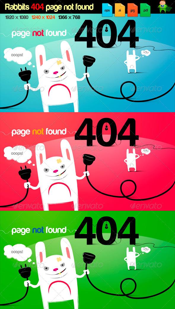 GraphicRiver rabbits 404 page error 5239040