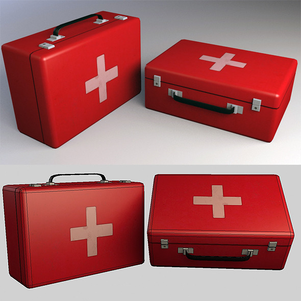 Medkit Low Poly - 3DOcean Item for Sale
