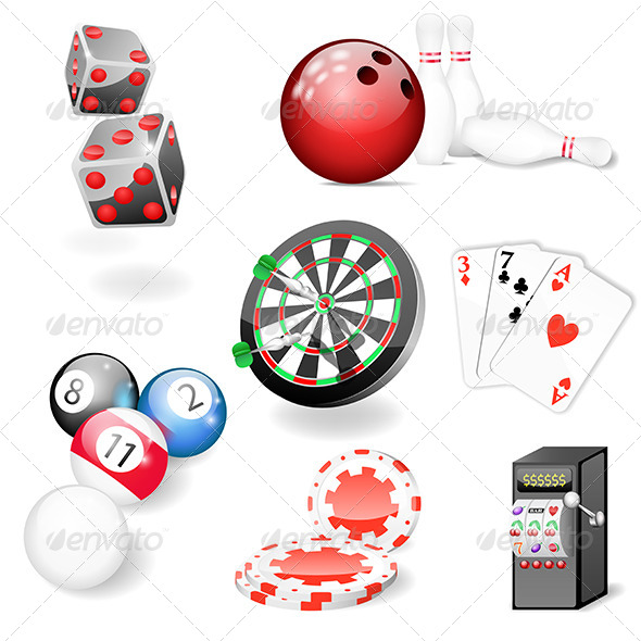 GraphicRiver Set of Casino and Game Elements 5260127