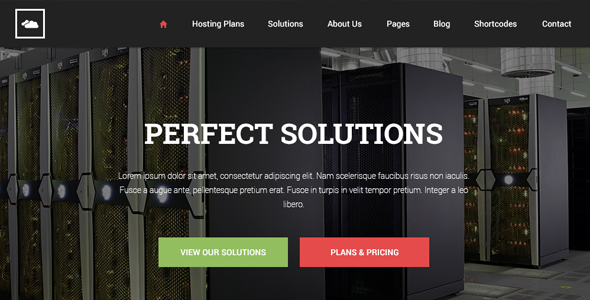 PGL Hosting HTML Template - Flat Design