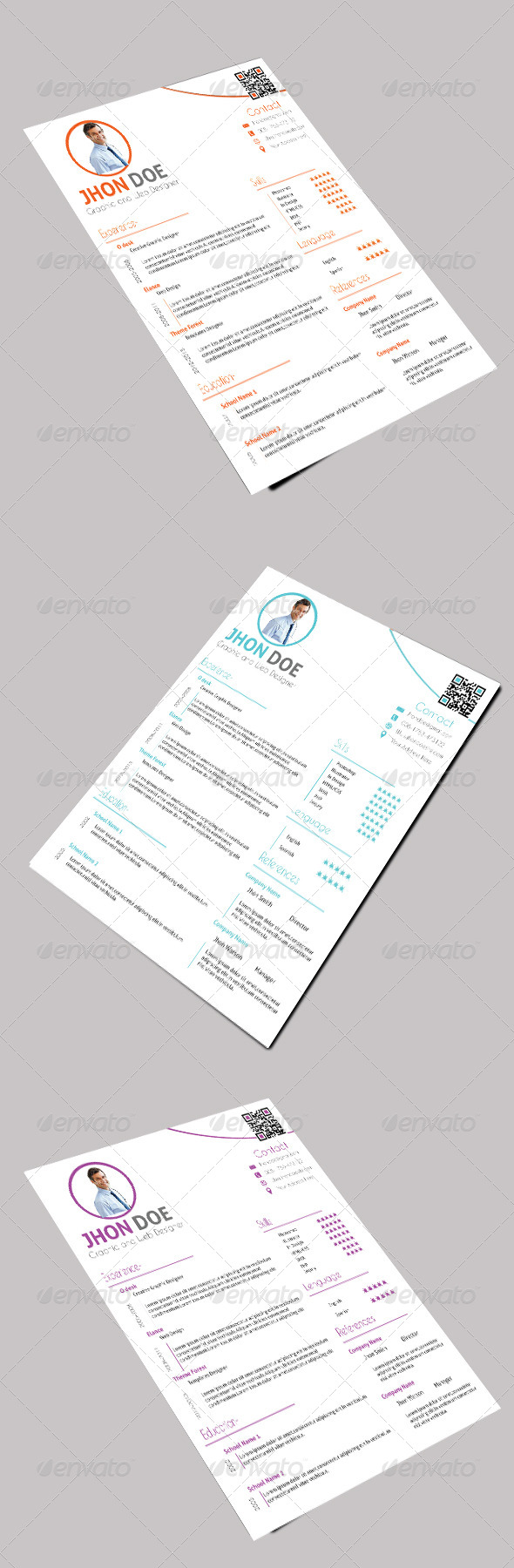 GraphicRiver Clean One Page Resume 5261606