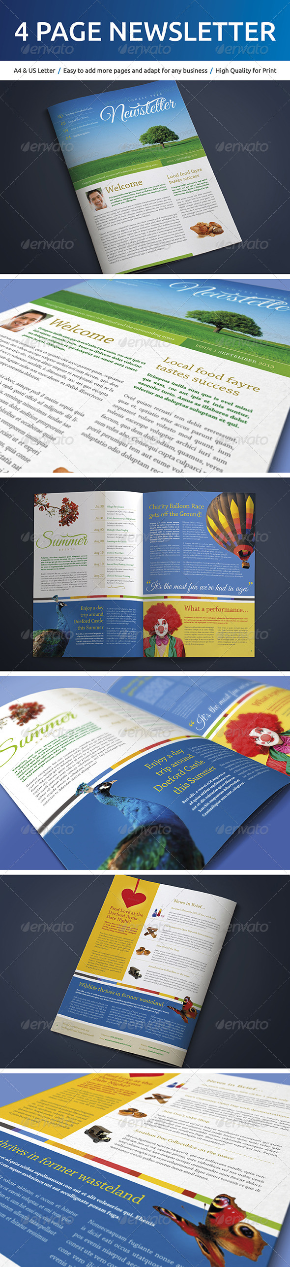 GraphicRiver 4 Page A4 and US Letter Newsletter 5261874