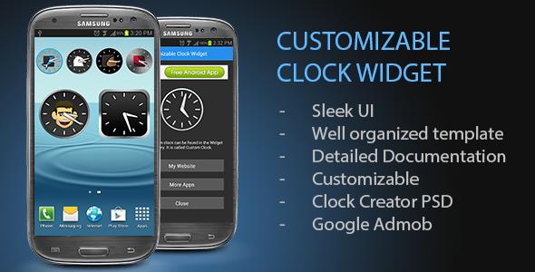 Customizable Clock Widget - CodeCanyon Item for Sale