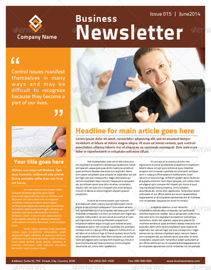 2 Pages Multipurpose Business Newsletter by mjcreative – Business Newsletter