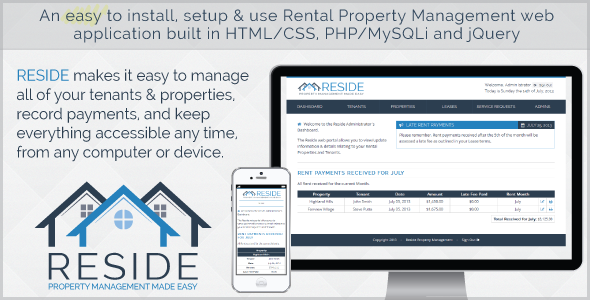 CodeCanyon Reside Rental Property Management 5263078