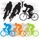 Silhouettes cyclist - GraphicRiver Item for Sale