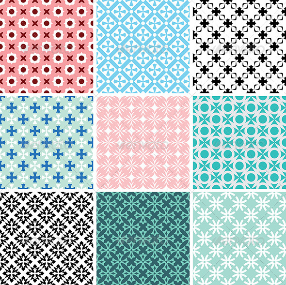 GraphicRiver Abstract Vector Patterns 5263308