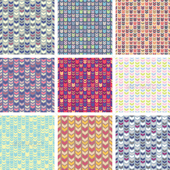 GraphicRiver Abstract Vector Patterns 5263309