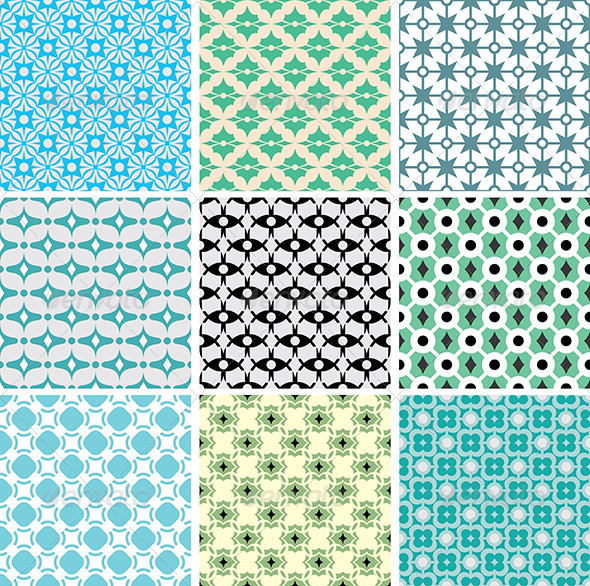 GraphicRiver Abstract Vector Patterns 5263311