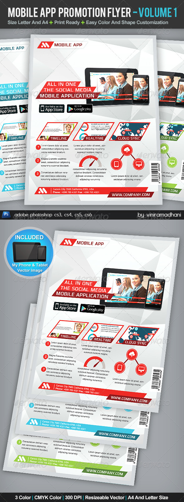 GraphicRiver Mobile App Promotion Flyer Volume 1 5207371