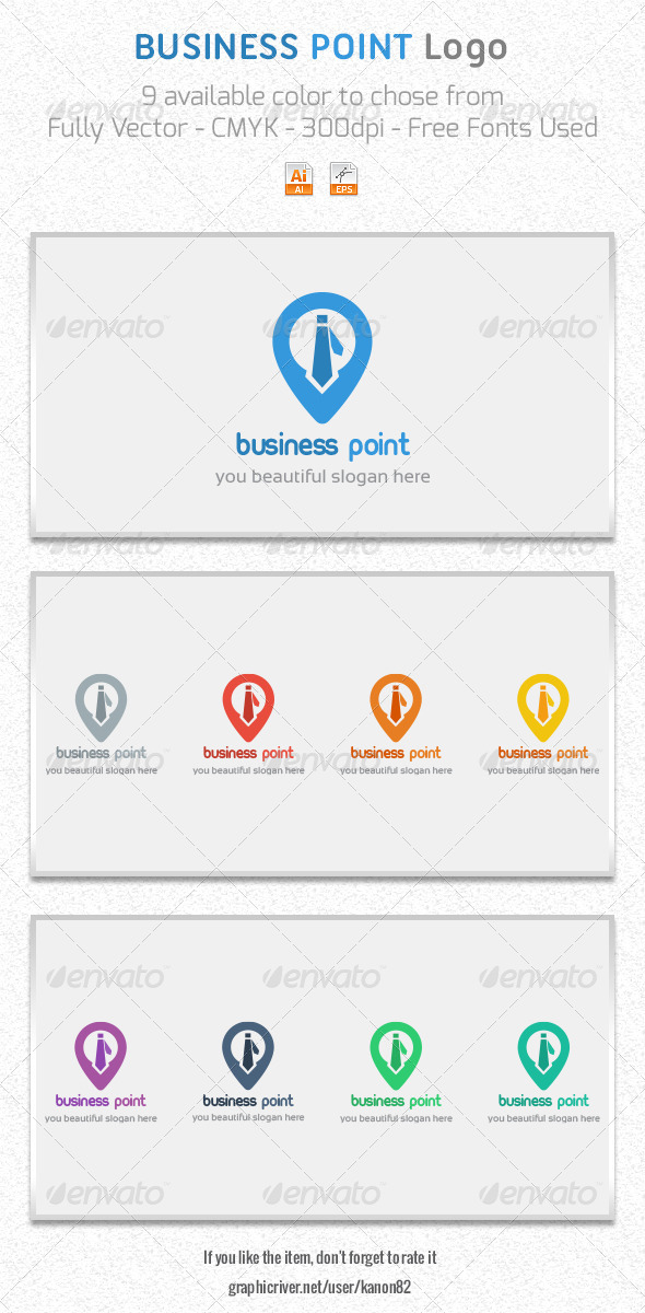 GraphicRiver Business Point Logo 5263449