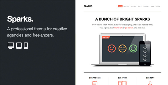 Sparks: Professional WordPress Portfolio Theme