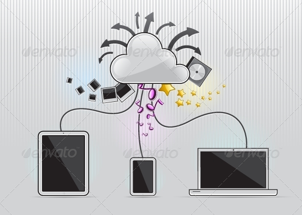 GraphicRiver Cloudy Computing 5264199