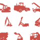 46 Construction Machines Custom Shape - GraphicRiver Item for Sale