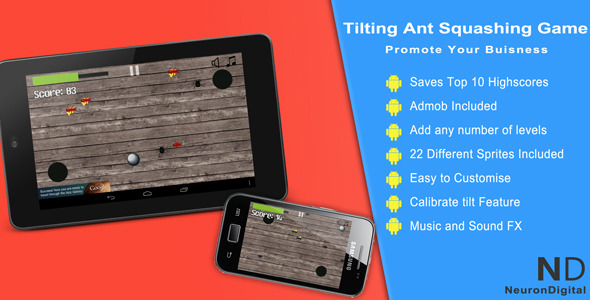 CodeCanyon Tilting Ant Squashing Game Promote Any Business 5265161