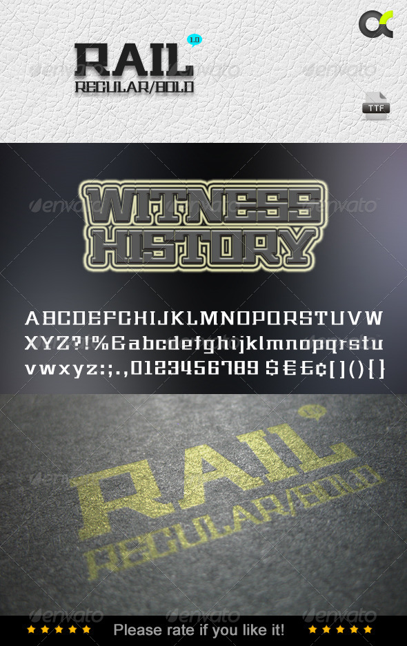 GraphicRiver Rail Fonts 5265343