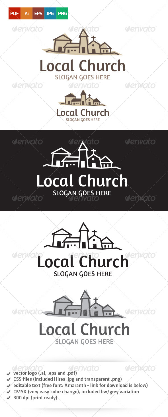 GraphicRiver Local Church Logo 5265685