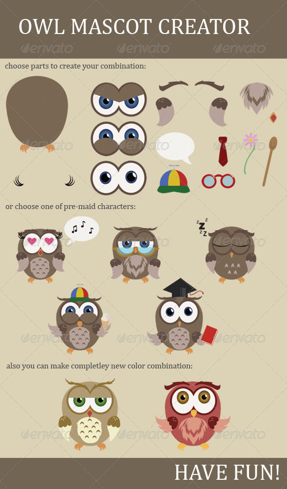 GraphicRiver Owl Mascot Creator 5265699