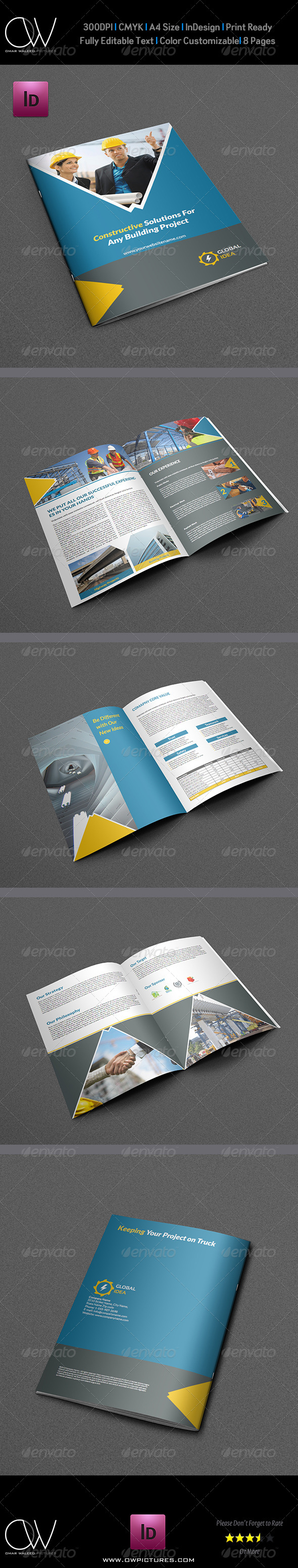 GraphicRiver Construction Business Brochure Template 5265716