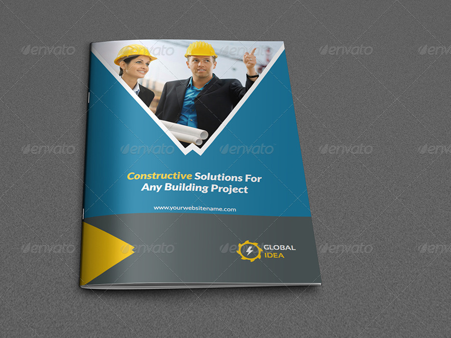 construction brochure design pdf - construction business brochure template 8 pages by