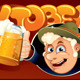 Man with Two Beer Mugs Oktoberfest Background - GraphicRiver Item for Sale