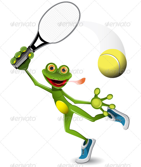GraphicRiver Frog Tennis Player 5265740