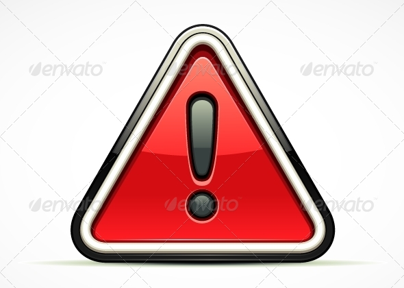 GraphicRiver Warning Red Sign 5265776
