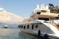Yacht in bay of Portofino, Italy.