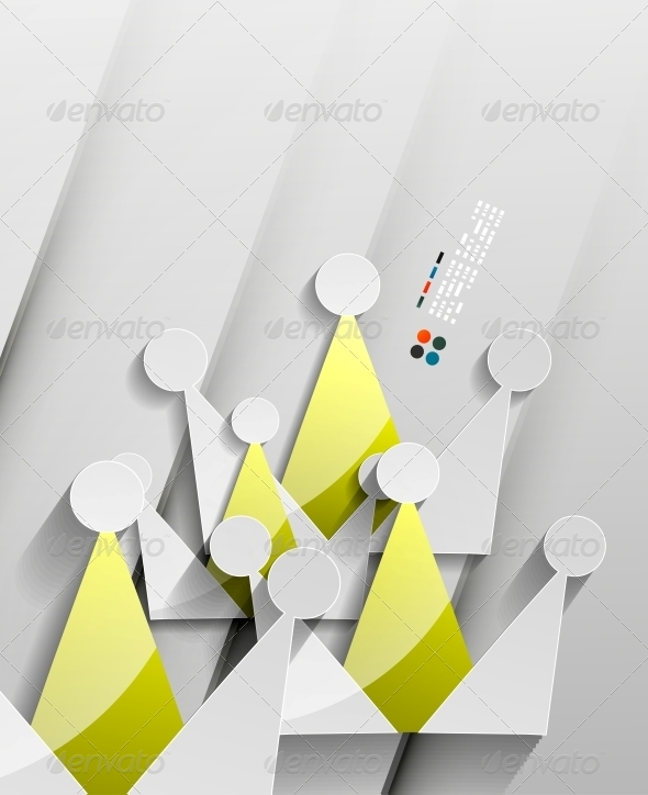 GraphicRiver Crown 3D Paper Design 5265984