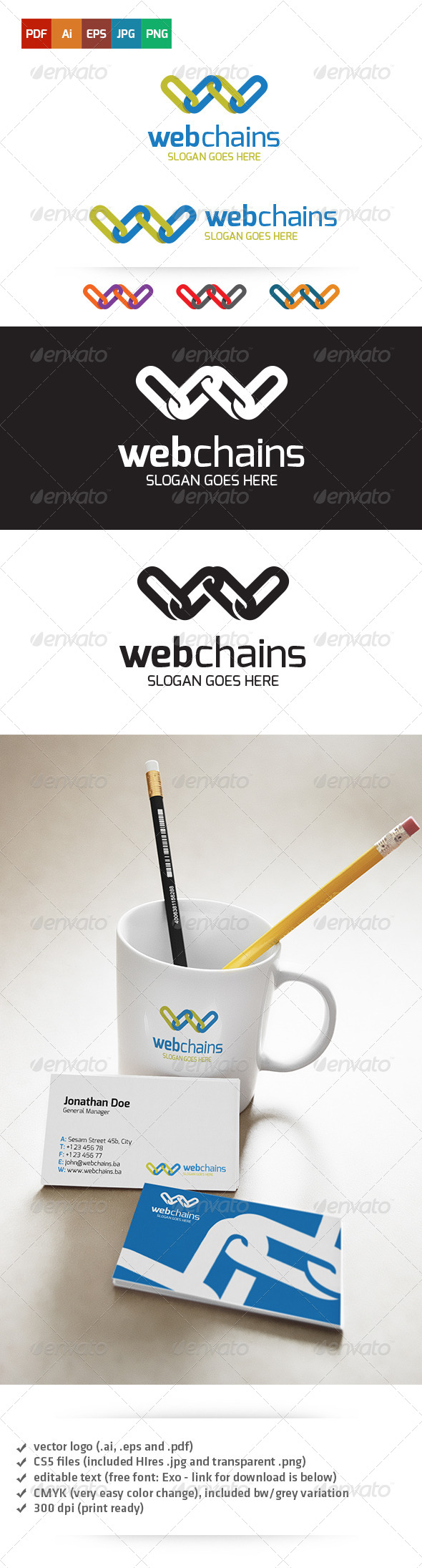 GraphicRiver Web Chains Logo 5266393