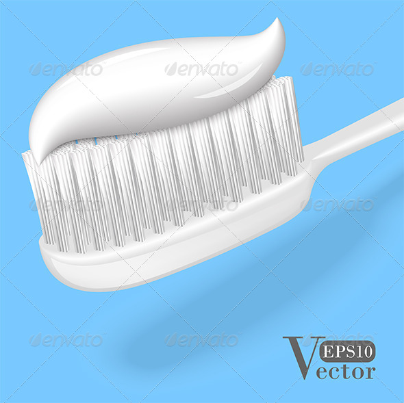 GraphicRiver Toothbrush with Toothpaste 5266396