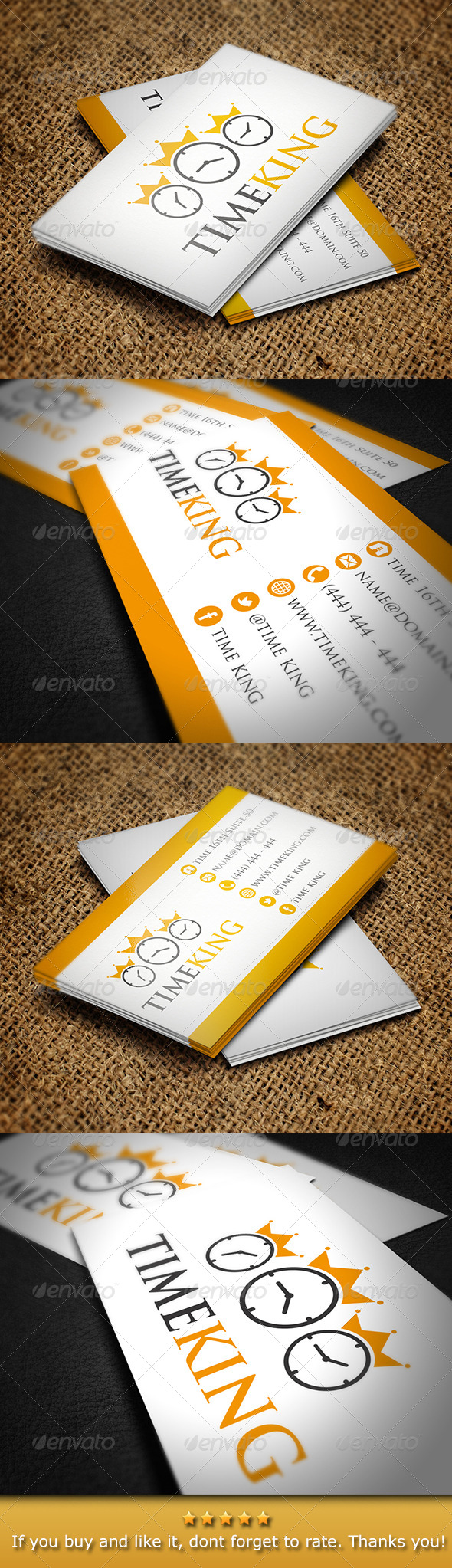 GraphicRiver Time King Business Card 5266602
