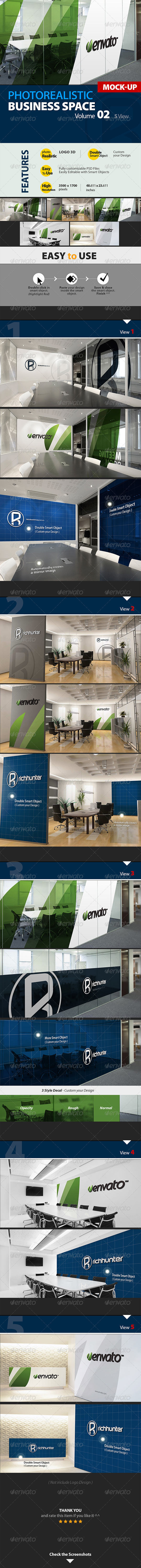 GraphicRiver Business Space Mock-up Logo 3D Vol.2 Richhunter 5266744