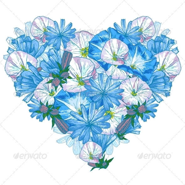GraphicRiver Heart from Flowers 5266762